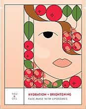 Парфюмерия и Козметика Хидратираща и изсветляваща маска за лице с липозоми - You & Oil Hydration & Brightening Face Mask With Liposomes