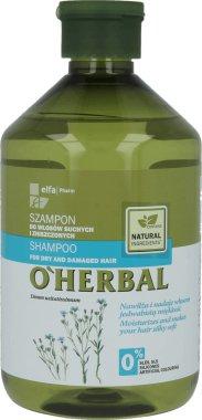 Шампоан за суха и изтощена коса с екстракт от лен - O'Herbal