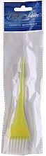 """Парфюми, Парфюмерия, козметика Четка за боядисване на коса """"S"""", 65088, жълта - Top Choice"""