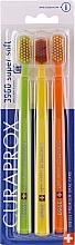 Парфюмерия и Козметика Комплект четки за зъби, жълта + оранжева + зелена - Curaprox Super Soft