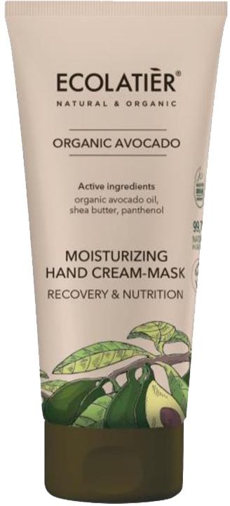Възстановяваща и подхранваща крем-маска за ръце - Ecolatier Organic Avocado Moisturizing Hand Cream-Mask