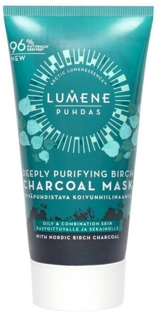 Дълбоко почистваща маска за лице с брезов въглен - Lumene Puhdas Deeply Purifying Birch Charcoal Mask