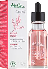 Парфюмерия и Козметика Масло за коса - Melvita Organic Pre-Shampoo Indigo Oil