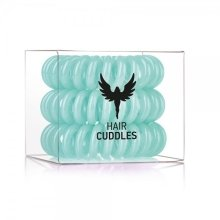 Парфюмерия и Козметика Силиконови ластици за коса, цвят тюркоаз - HH Simonsen Hair Cuddles