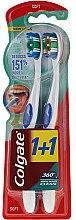Парфюми, Парфюмерия, козметика Комплект меки четки за зъби - Colgate 360 Whole Mouth Clean Soft