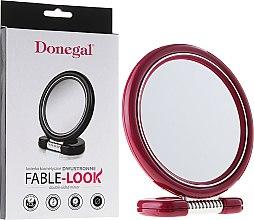 Парфюмерия и Козметика Двустранно козметично огледало, 12 см, 9504, розово - Donegal Mirror