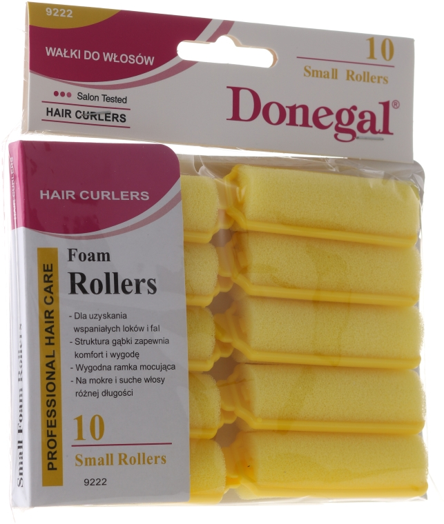 Комплект класически ролки за коса 20 мм., 10 бр. - Donegal Sponge Curlers