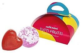 Парфюми, Парфюмерия, козметика Подаръчен комплект за тяло - Cafe Mimi Tutti Frutti (сапун/80g + бомб. за вана/120g))