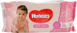 Парфюми, Парфюмерия, козметика Детски мокри кърпички, 56 бр - Huggies Soft Skin