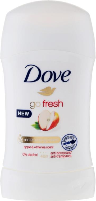 Стик дезодорант с аромат на ябълка и бял чай - Dove Go Fresh Apple & White Tea Deodorant — снимка N1