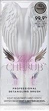 Бяло-розова четка за коса - Tangle Angel Cherub Brush White Pink — снимка N3