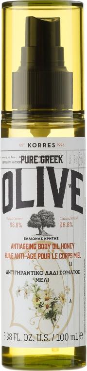 Сухо масло за тяло с мед - Korres Pure Greek Olive Honey Body Oil — снимка N1