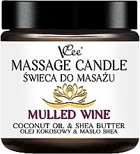 """Парфюмерия и Козметика Масажна свещ """"Греяно вино"""" - VCee Massage Candle Mulled Wine Coconut Oil & Shea Butter"""