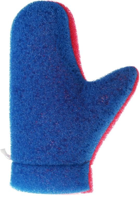 """Масажна ръкавица """"Aqua"""", 6021, синьо-розова - Donegal Aqua Massage Glove"""