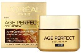Парфюми, Парфюмерия, козметика Възстановяващ нощен крем - L'Oreal Paris Age Perfect Cell Renew Night Cream