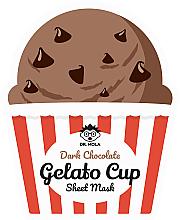 Парфюмерия и Козметика Памучна маска за лице - Dr. Mola Dark Chocolate Gelato Cup Sheet Mask