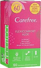 Парфюмерия и Козметика Ежедневни дамски превръзки, 60 бр. - Carefree Flexi Comfort Aloe Extract