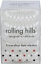 Парфюмерия и Козметика Ластици за коса, бели - Rolling Hills 5 Traceless Hair Rings White