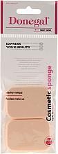 Парфюмерия и Козметика Правоъгълна козметична гъба от латекс за нанасяне на праймер (основа) 2 бр. 1077 - Donegal Sponge Make-Up
