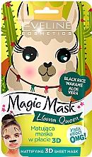 Парфюмерия и Козметика Матираща маска за лице - Eveline Cosmetics Magic Mask Llama Queen