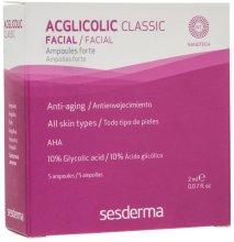 Парфюмерия и Козметика Интензивна терапия против стареене с ампули с гликолова киселина - SesDerma Acglicolic Classic Ampoules Forte