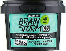 "Почистващ скраб за скалп ""Brain Storm"" - Beauty Jar Cleansing & Purifying Scalp Scrub — снимка N2"