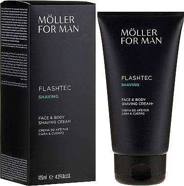 Крем за бръснене - Anne Moller Man Flashtec Shaving Face And Body Shaving Cream — снимка N1