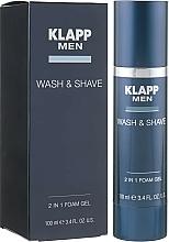 Парфюмерия и Козметика Гел за бръснене и почистване - Klapp Men Wash & Shave 2in1 Foam Gel