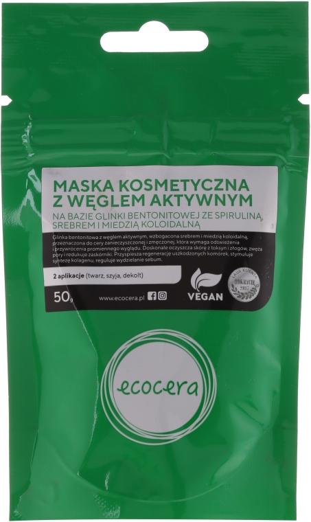 Маска за лице с активен въглен - Ecocera Face Activated Carbon Mask — снимка N3