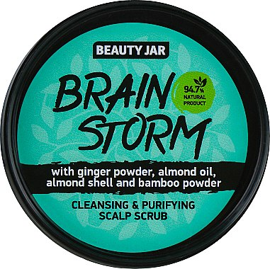 "Почистващ скраб за скалп ""Brain Storm"" - Beauty Jar Cleansing & Purifying Scalp Scrub"
