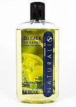 """Парфюми, Парфюмерия, козметика Освежаващо масло за вана и душ """"Зелен чай и пачули"""" - Naturalis"""