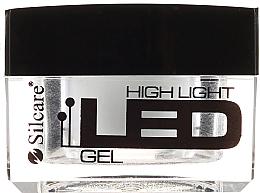 Парфюмерия и Козметика Гел лак за нокти, бял - Silcare High Light LED White