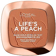 Парфюмерия и Козметика Руж за лице - L'Oreal Paris Life's A Peach Blush