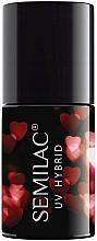 Парфюмерия и Козметика Хибриден лак за нокти - Semilac Platinum UV Hybrid Valentine