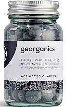"""Парфюмерия и Козметика Таблетки за почистване на устна кухина """"Активен въглен"""" - Georganics Mouthwash Tablets Activated Charcoal"""