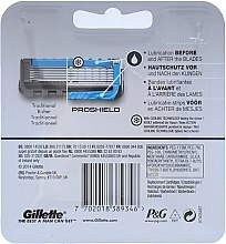 Сменяеми ножчета за бръснене, 3 бр. - Gillette Fusion Proshield Chill — снимка N2