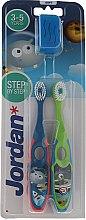 Парфюми, Парфюмерия, козметика Комплект детски четки за зъби, 3-5 г. - Jordan Step By Step Soft Clean