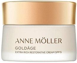 Парфюмерия и Козметика Възстановяващ крем за лице - Anne Moller Goldage Extra Rich Restorative Cream SPF15