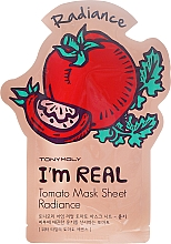 Парфюмерия и Козметика Памучна маска за лице с екстракт от домат - Tony Moly I'm Real Tomato Mask Sheet