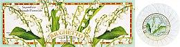 Парфюмерия и Козметика Комплект сапуни с аромат на момина сълза - Saponificio Artigianale Fiorentino Lily Of The Valley Soap
