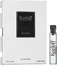 Парфюмерия и Козметика Korloff Paris In White Intense - Парфюмна вода (мостра)