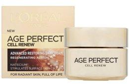 Парфюми, Парфюмерия, козметика Регенериращ дневен крем - L'Oreal Paris Age Perfect Cell Renew Day Cream