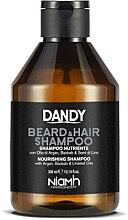 Парфюми, Парфюмерия, козметика Шампоан за коса и брада с арган - Niamh Hairconcept Dandy Beard & Hair Shampoo