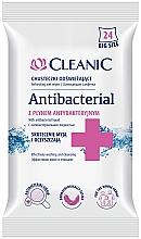 Парфюмерия и Козметика Антибактериални кърпички, 24 бр. - Cleanic Antibacterial Wipes