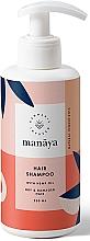 Парфюмерия и Козметика Възстановяващ шампоан за суха и увредена коса с конопено масло - Manaya Hair Shampoo With Hemp Oil