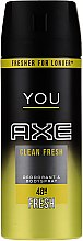Парфюмерия и Козметика Спрей дезодорант - Axe You Clean Fresh Deodorant Spray
