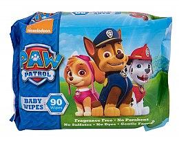 Парфюмерия и Козметика Мокри кърпички, 90 бр - Nickelodeon Paw Patrol Baby Wipes