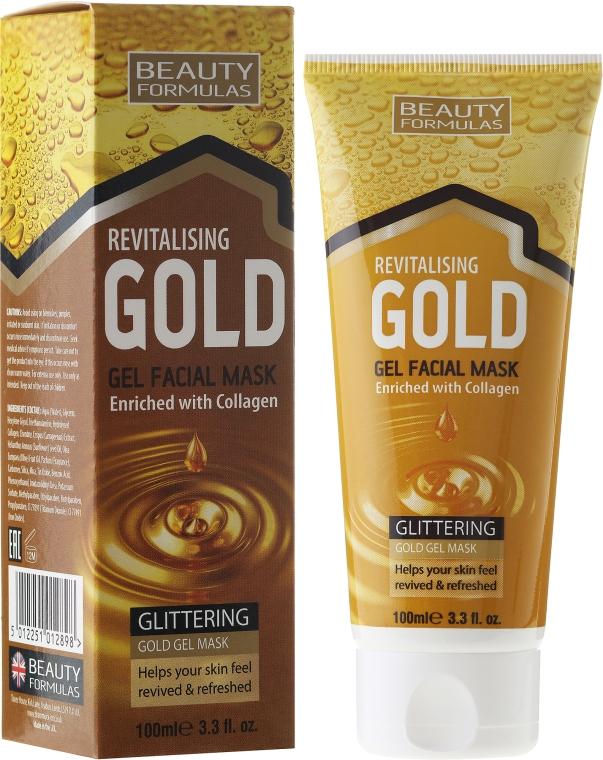 Дълбоко почистваща маска за лице - Beauty Formulas Gold Gel Facial Mask
