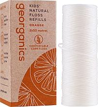 Парфюмерия и Козметика Конец за зъби, 2х50 м - Georganics Natural Sweet Orange Dental Floss (пълнител)