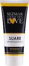 Парфюмерия и Козметика Душ гел 2 в 1 - Sezmar Collection Aphrodisiac Suare Hair&Body Shower Gel